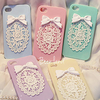 iphone 4 case, iphone 4s case, iphone 5 case, iphone cover 4 case, cute iPhone 5 case lace, floral iPhone 4 case, Lace iphone 4 case Bling