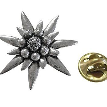Large Edelweiss Flower Lapel Pin [Jewelry]