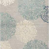 Rizzy Rugs Dimensions Light Gray Floral Rug
