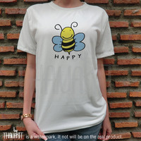 Bee Happy Be Happy TShirt - Tee Shirt Tee Shirts Size - S M L XL XXL 3XL