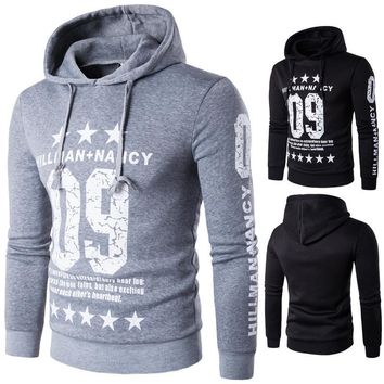 Stylish Casual Winter Hot Sale Men's Fashion Alphabet Print Hoodies [10669406019]