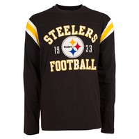 Pittsburgh Steelers Lateral Felt Applique Long Sleeve Jersey T-Shirt