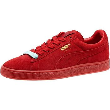 Puma Suede Classic Mono Iced Women Men Sneaker Red