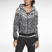 Nike Windrunner Allover Print Women's Jacket - Black