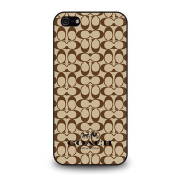 COACH NEW YORK BROWN iPhone 5 / 5S / SE Case Cover