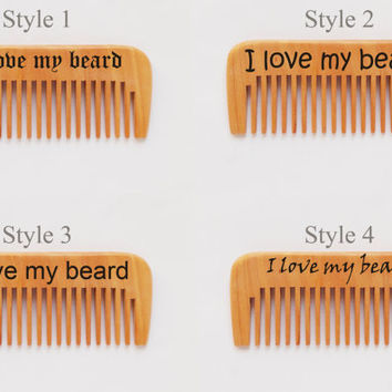 Personalized wood comb, fathers day gift, comb for dad, Choose the font, groomsman, Gift For him, handmade, pyrography, beard comb