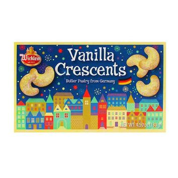 Wicklein Vanilla Crescent Cookies, 4.6 oz
