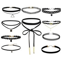 Best Deal New Fashion 10Pcs/set Women Black Rope Choker Necklace