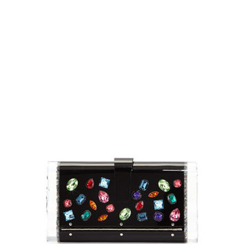 Edie Parker Lara Backlit Swarovski® Jeweled Clutch Bag, Black