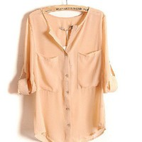 Loose Pink Shirt With Twins Packet