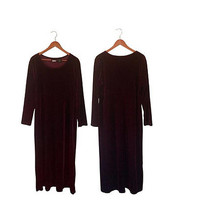 Plus Size Dress Long Burgundy Dress Burgundy Velour Dress Velvet Dress 90s Maxi Dress Long Sleeve Dress Modest Dress Plus Size Maxi Dress XL