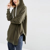 ASOS | ASOS Hoodie in Longline Oversized Fit with Side Splits at ASOS