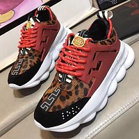 Boys & Men Versace Leopard Print Sneakers Sport Shoes