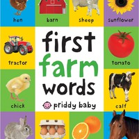 First Farm Words (First 100) Board book – March 7, 2017