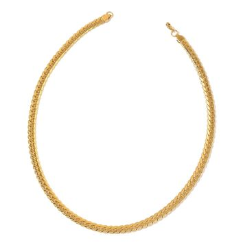 ION Plated Gold Stainless Steel Etched Curb Chain 24""