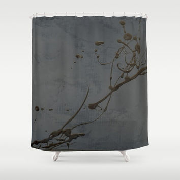 Study In Black Shower Curtain by Corbin Henry