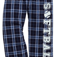 Softball Columbia Blue Lounge Flannel Pant with Pockets