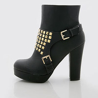 Stud Brick Ankle Boots - Ankle Boots at Pinkice.com