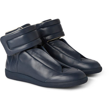 Maison Margiela - Future Panelled Leather High-Top Sneakers | MR PORTER