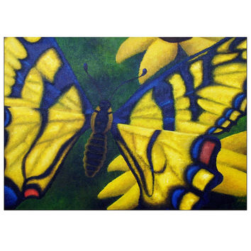 Transform and Be Free - 5x7 Inch Folded Greeting Cards of Acrylic Paint Butterfly Fine Art