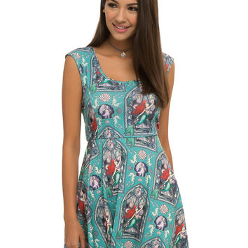 Disney The Little Mermaid Ariel Stained Glass Dress