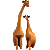 Leather Giraffes by Deru