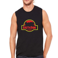 jurassic south park Muscle Tank