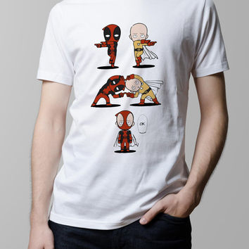 One Punch Man OPM Saitama Deadpool Fusion T-shirt. Male and Female Apparel