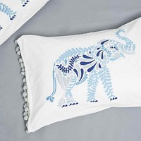 Elephants Pillow Set in Blue - Urban Outfitters