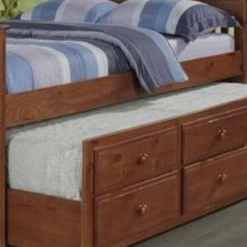 Connor Full Captains Bed with Storage and Trundle