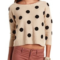 Polka Dot Pullover Sweater: Charlotte Russe
