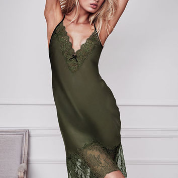 Chantilly Lace & Satin Midi Slip - Dream Angels - Victoria's Secret