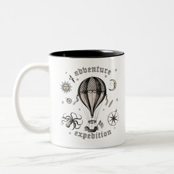 Vintage Adventure Expedition Two-Tone Coffee Mug