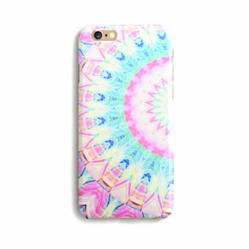 Pastel Mandala Print iPhone Case