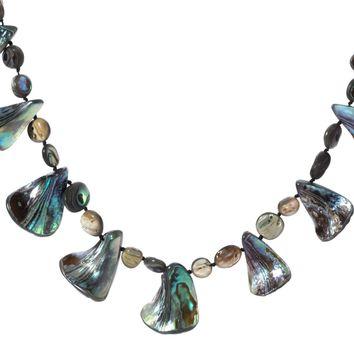 Natural abalone shell necklace choker fashion jewelry