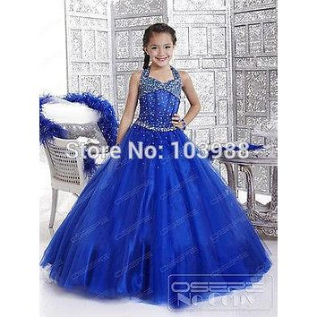 2016 royal blue flower girl DRESS-OCCASION-PARTY-BRIDESMAID-WEDDING-FORMAL-WEAR!! Cute and Lovely