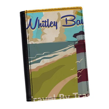 Whitley Bay England High Quality PU Faux Leather Passport Cover by Nick Greenaway
