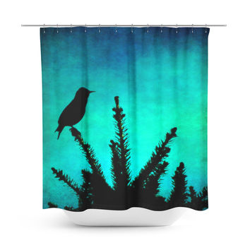 Silhouette Blues Shower Curtain