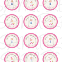 Easter sticker, Cupcake Topper, Tags, Easter printable - Easter celebration - Easter label