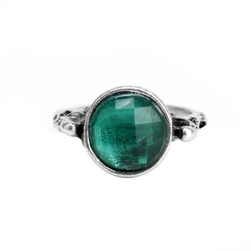 dongsheng Vintage Green Crystal Stone Pirates Of The Caribbean Ring Captain Jack Sparrow Death Finches Skull Rings -25