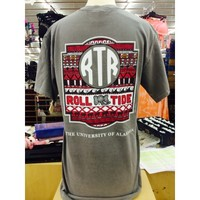 Alabama Monogram Tee - Grey
