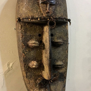 South African Anglo Congo Antique Wood Carved Mask