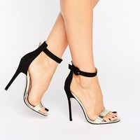 Public Desire Coraline Ankle Strap Heeled Sandals at asos.com