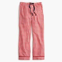 Gingham flannel pajama pant
