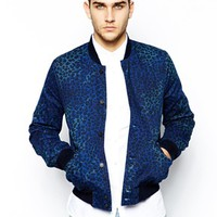 Paul Smith Jeans Bomber Jacket in Animal Print -