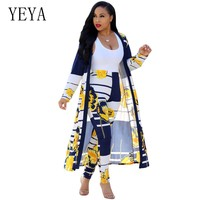 YEYA Women Two Piece Outfits Print Jumpsuits Rompers Long Sleeve Elegant Bodycon Jumpsuit Casual Work Wear Female Party Overalls