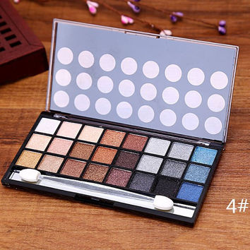 24 Colours Mineral Pearl Eyeshadow Palette with Mirror and Brush