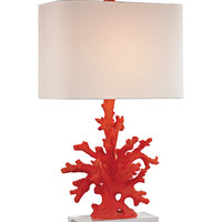 Red Coral Table Lamp | zulily