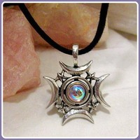 Crescents Rising Celestial Amulet