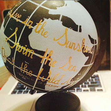 Customizable! - Handpainted Wanderlust Globe
